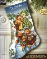 Victorian Bears Stocking 8753 / Сапожок Викторианские мишки