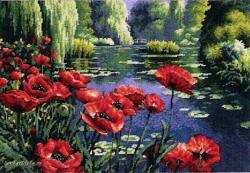 Lakeside Poppies 20066 / Маки у озера Нидлпоинт