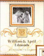 Elegant Flourish Wedding Record 70-35342 / Элегантная праздничная свадебная метрика
