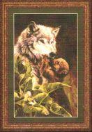 Wolf and Pup 98703 / Волк и волчонок