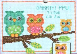 Owl Birth Record 70-73699 / Детская метрика Совёнок
