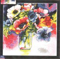 Watercolor Anemones 2850 / Акварельные анемоны