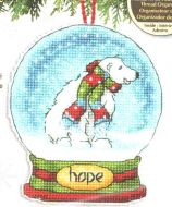 Hope Snow Globe Ornament 70-08906 / Орнамент Снежный шар надежда