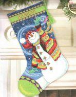 Happy Snowman Stocking 71-09143 / Сапожок Счастливый снеговичок