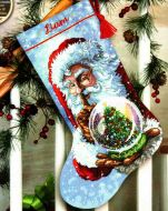 Santas Snow Globe Stocking 70-08985 / Сапожок Снежный шар Санты