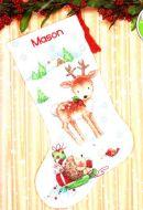 Reindeer Hedgehog Christmas Stocking 70-08978 / Новогодний сапожок Олень и Ёжик