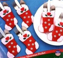 Stocking Holders Silverware Pocket 5353 / Карманы в виде сапожков держателей для сервировки стола