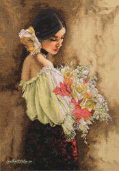 Woman with Bouquet 70-35274 / Дама с букетом
