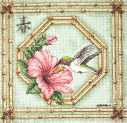 Hummingbird and Bamboo 13707 / Колибри и бамбук