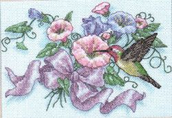 Hummingbird and Morning Glories 6971 / Колибри и Утренние Растения