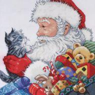 Santa With Kitten 5977 / Санта с Котёнком