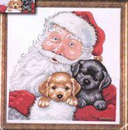 Santa With Puppies 5978 / Санта с Щенками