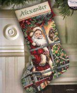Candy Cane Santa Stocking 08778 / Сапожок Конфетка Санты