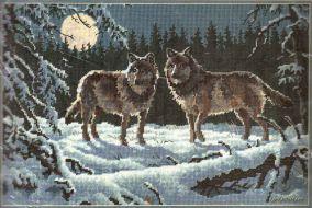 Moonrise Wolves 12153 / Волки в Ночи
