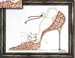 Leopard Shoe Kitty 2553 / Кошечка в Леопардовой Туфельке