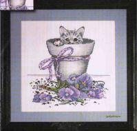 Flowerpot Kitty 2545 / Котенок в Цветочном Горшочке