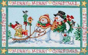 Snow Family Christmas 08760 / Семейное рождество снеговиков