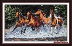Galloping Horses 35214 / Бегущие лошади