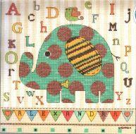 Baby Elephant ABC 70-73988  / Детская метрика Малыш слоник АВС