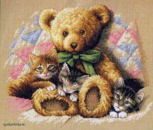 Teddy and Kittens 352360 / Мишка и котята (США)